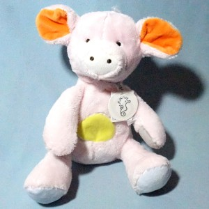 Cochon HAPPY HORSE doudou peluche rose