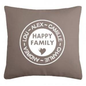 """Housse de coussin """"Happy Family"""""""