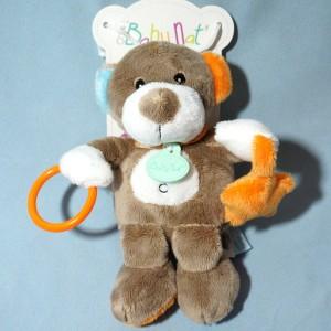 ours BABY NAT' beige avec anneau et étoile orange