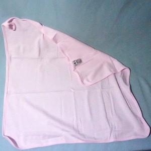 doudou PETIT BATEAU carré plat rose et blanc