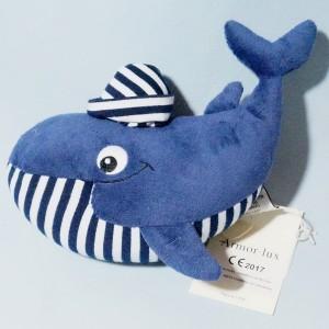 Baleine ARMOR LUX sos doudou rayé bleu
