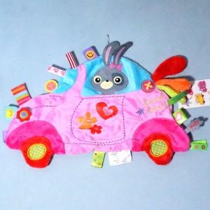 voiture LABEL-LABEL plat rose étiquettes