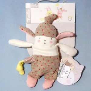 "Lapin  MOULIN ROTY ""Lulu"" doudou Les Petits Dodos"