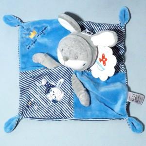 Lapin NICOTOY SIMBA doudou bleu Le plus mignon