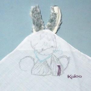 Ane KALOO doudou lange blanc