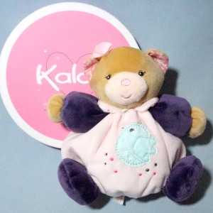 Ours KALOO doudou boule Petite Rose