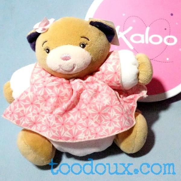 Ours KALOO doudou boule Petite Rose robe