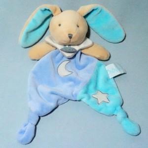 "Lapin BABY NAT plat ""les luminescents""  bleu étoile"