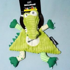 """Alligator """"Alligatos"""" Les DEGLINGOS doudou plat vert"""