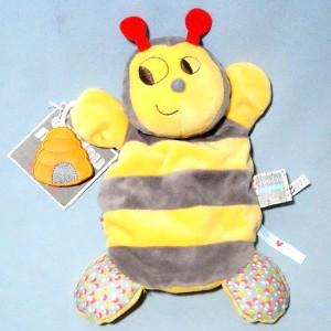 Abeille KALOO doudou marionnette Nopnop jaune