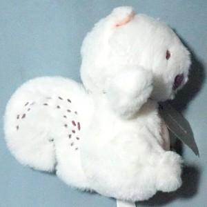 Ecureuil SERGENT MAJOR doudou peluche blanc