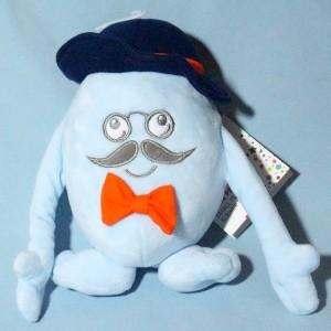 Peluche TROIS KILOS SEPT Mr Moustache bleu