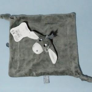 Ane Bourriquet DISNEY doudou carré plat gris