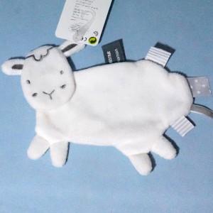Mouton ORCHESTRA doudou plat blanc