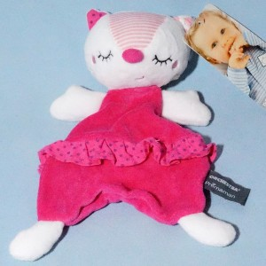 Chat ORCHESTRA doudou plat rose