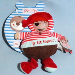 """Pirate DOUDOU ET COMPAGNIE """"Les Bouilles de doudou"""" marionnette P'tit trésor"""
