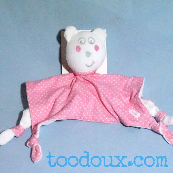 Ours ORCHESTRA doudou plat rose