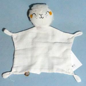 Mouton DPAM Du Pareil Au Même doudou en lange blanc