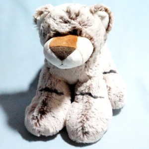 Tigre MONOPRIX doudou en peluche marron beige