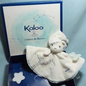 Ours KALOO Petite Etoile rond plat blanc