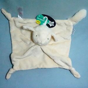 mouton TOMMEE TIPPEE doudou carré plat beige