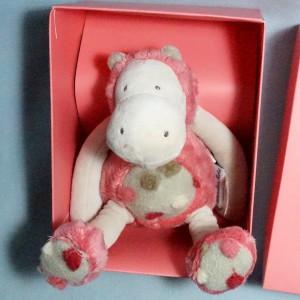 Hippopotame MOULIN ROTY doudou les Zazous rose