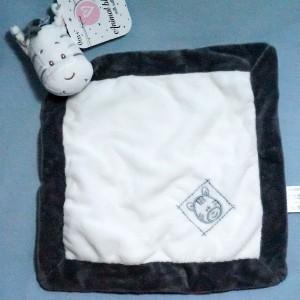 Zèbre ZDT ACTION carré plat blanc et gris hochet