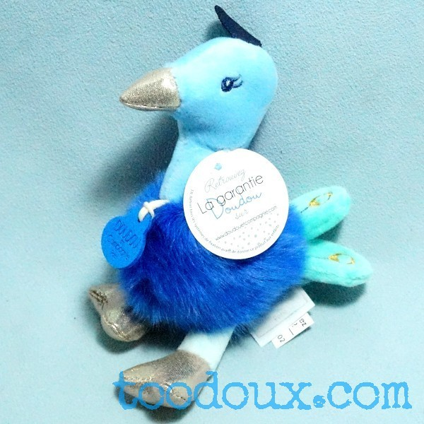 Paon DOUDOU ET COMPAGNIE bleu Les Minizoo DC3526
