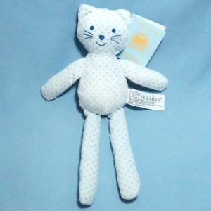 Chat BOUT'CHOU (Monoprix) doudou bleu étoiles