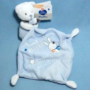 Ours MOTS D'ENFANTS doudou phosphorescent bleu Sweet Dreams