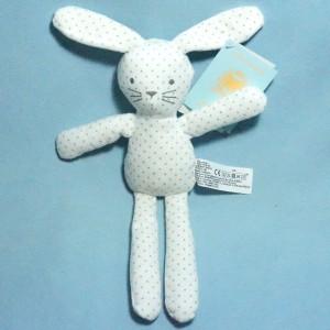 Lapin BOUT'CHOU (Monoprix) doudou blanc étoiles E3010/0206