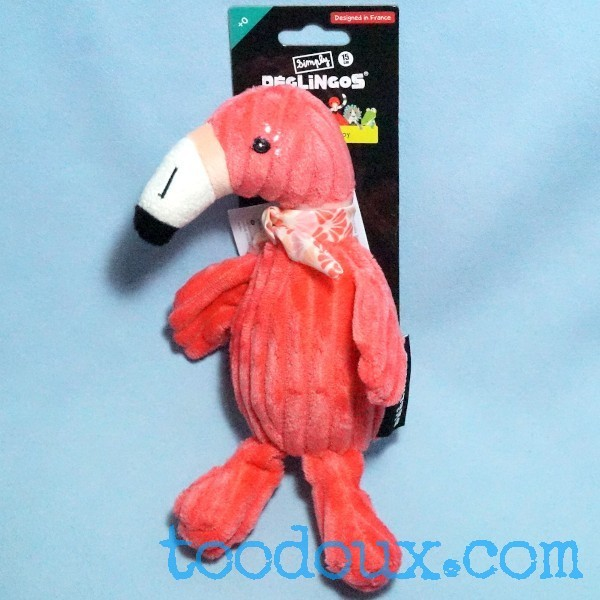 "Flament rose ""Flamingos"" Simply DEGLINGOS doudou peluche rose 15cm"