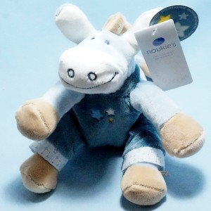 Ane NOUKIE'S Paco peluche bleu étoiles 25 cm