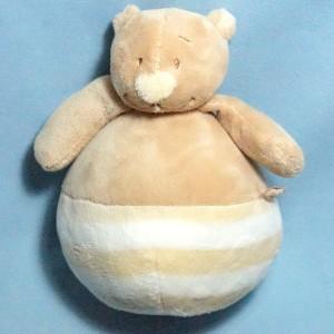 Ours NOUKIE'S doudou culbuto Nouky beige