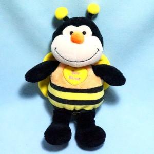 Abeille AURORA peluche noire et jaune Bee Mine