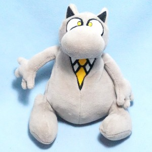 Chat GELUCK peluche grise
