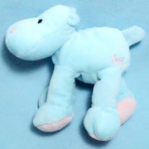Hippopotame TIGEX doudou bleu