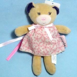 Ours KALOO doudou peluche Petite Rose robe