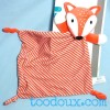 Renard KIOKIDS doudou plat  orange