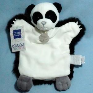 Panda DOUDOU ET COMPAGNIE noir et blanc marionnette DC3612