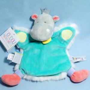 Hippopotame DOUDOU ET COMPAGNIE marionnette Tropi'cool DC3322