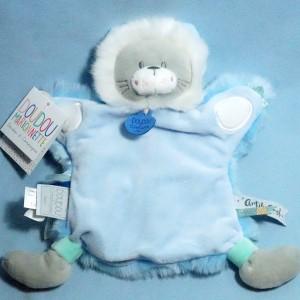 Lion DOUDOU ET COMPAGNIE bleu marionnette Artik Cool DC3328