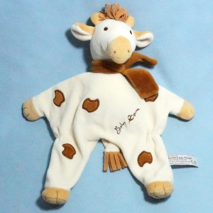Girafe ANNA CLUB PLUSH doudou plat écru Baby Sam