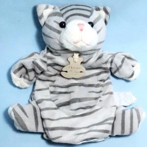 Chat HISTOIRE D'OURS marionnette tigré HO1169
