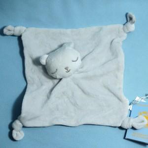 Ours BOUT'CHOU (Monoprix) doudou carré plat gris