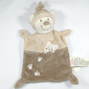 Doudou Ours plat Nicotoy beige