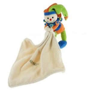 Arlequin BABY NAT' doudou avec mouchoir